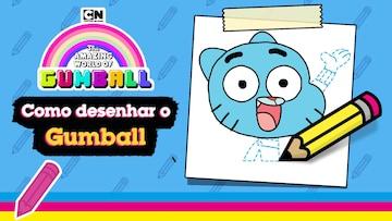 Como desenhar o Gumball